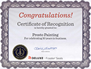 Presto Painting 30 Years in Business